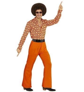80s Kostüme 70s 60s Dress Fancy (Schlaghose Herren Groovy 70s 70er siebziger Jahre Schlager Hose (L/XL,)