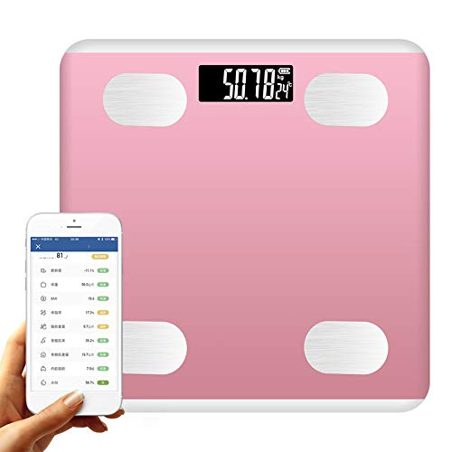 SCJ Balanzas de pesaje Inteligentes con báscula de baño Digital Bluetooth de...