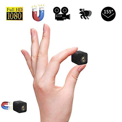 Mini Kamera Mini DV Subminiatur Kamera 155° Ultra-Weitwinkelobjektiv 1080P Full HD Portable Kleine Kindermädchenkamera mit Nachtsicht Kamera Videorekorder Infrarot-Auto-DVR-Kamera Bewegungserkennung