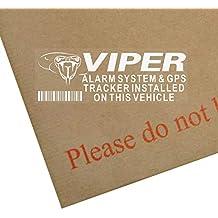 Lote de 5 pegatinas de alarma Viper y GPS rastreador, 87 x 30 mm,