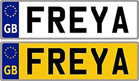 Personalised Self-Adhesive 14 x 4 cm Number Plate Stickers For