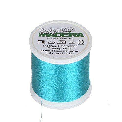 MADEIRA 9845-- 17462-lagig Polyneon Polyester Stickgarn, 40wt/135D 440YD, Blaugrün -