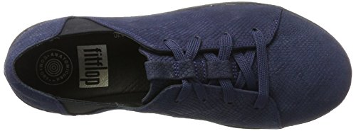 Fitflop F-Sporty Laceup, Sneaker Donna Blu (Midnight Navy Leather)