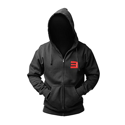 CosDaddy® Eminem Bad Meets Evil Hip Hop Schwarz Sweatershirt Kapuzenpullover Cosplay Kostüm US Size (Neue Kostüme Hop Hip)