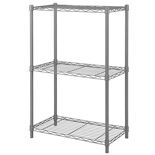 Home-Like 3-Tier Wire Regal Einheit Mini und robuste Lagerung Rack für Küche Home Office Garage gery Farbe 53.5x35x81.5cm (3-tier-regal)