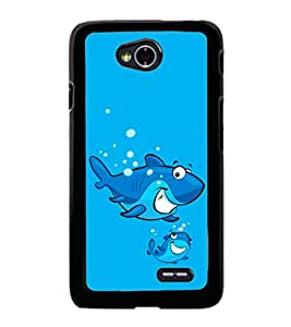 printtech Cartoon Shark Water Back Case Cover for  LG L70