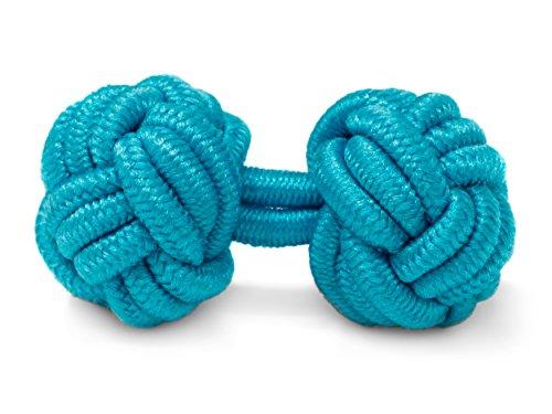 THE SUITS CREW Manschettenknöpfe Seidenknoten Herren Damen Nylon Stoff | Cufflinks Silk Knots für alle Umschlagmanschetten Hemden | Einfarbig ()
