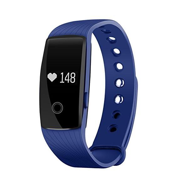 Seneo Fitness Tracker, Reloj Inteligente con Pulsómetro, IP67 Pulsera de Fitness Rastreador de Actividad Monitor de Frecuencia Cardíaca Podómetro Reloj Deportivo IP67 para Hombre Mujer 1