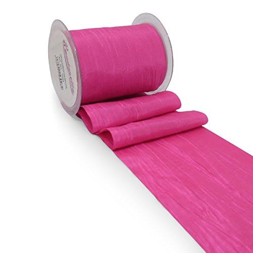 Bandarella Tischläufer Crash 10cm / 10m pink Tischband Hochzeit Taufe Kommunion Geschenkband Schleifenband Zierband TischdekoVintage