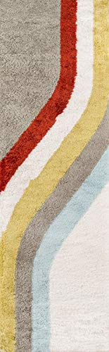 Classic Collection Teppich (Novogratz Retro Collection Classic Shag Area Teppich, 76 x 91 cm, Mehrfarbig Modern 2'3
