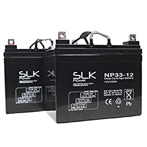 Pair of 12V 33ah Mobility Scooter / Wheelchair Batteries