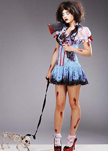 Damen Halloween Zombie Dead Dorothy Kostüm M/L (UK 10-12) (Dorothy Halloween)