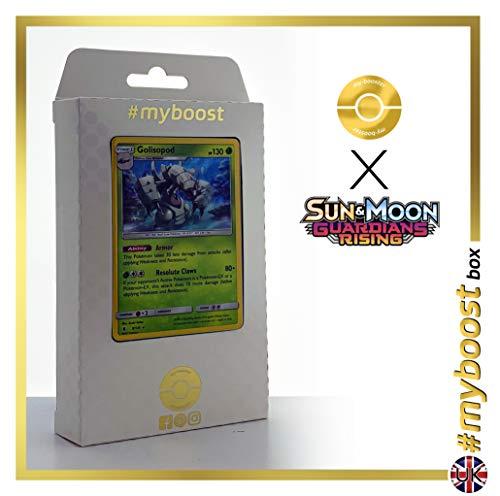 Golisopod 9/145 Holo - #myboost X Sun & Moon 2 Gardians Rising - Box de 10 Cartas Pokémon Inglesas
