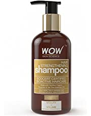 WOW Hair Strengthening No Sulphate and Parabens Shampoo, 300ml