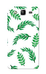 Galaxy On5 Case, Galaxy On5 Pro Case, Green Leafs White Slim Fit Hard Case Cover/Back Cover for Samsung Galaxy On 5/On5 Pro