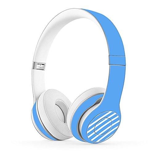 Masino Creative Headset Schutzhülle Aufkleber Cover Full Body Haut Aufkleber für Beats Solo 2Drahtlose & Solo 3Wireless On-Ear-Kopfhörer Link- Blue for Solo 2 Wired
