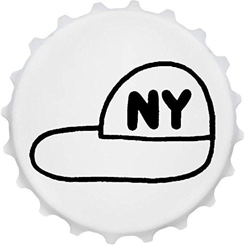 Azeeda 'New York Baseballmütze' Cap Förmiger Flaschenöffner Kühlschrankmagnet (BO00014611) (York Bier In Bar New)