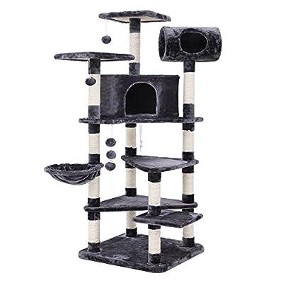 SONGMICS XXL Multi-level Cat Tree Cat Play House Alternative colors