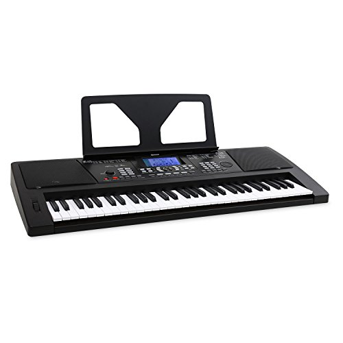 (Elektronik-Star Schubert Subi61B • Keyboard • E-Piano • 61 Tasten • 128 Instrumente • 128 Begleitrhythmen • 12 Demosongs • Lern-, Aufnahme- und Wiedergabefunktion • schwarz)