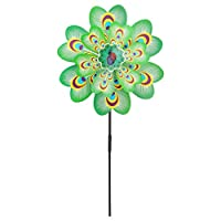 Larger Double Layer Peacock Windmill Wind Spinner Kids Toy Yard Garden Decor