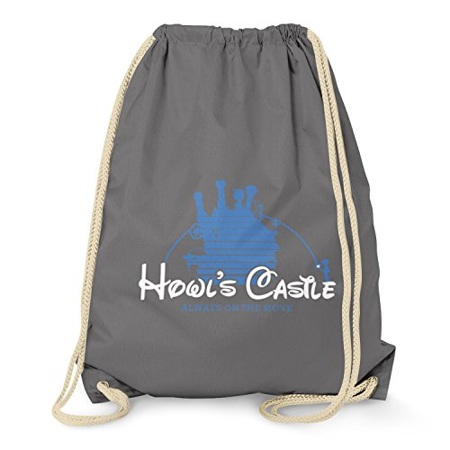 Cosplay Chihiros Zauberland Ins Kostüm Reise - TEXLAB - Howl's Castle - Turnbeutel, grau