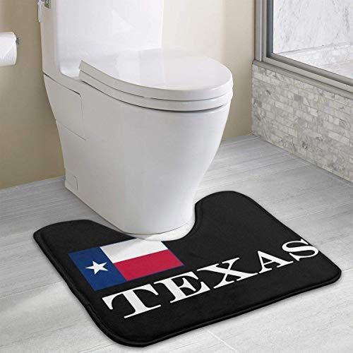 Hoklcvd Texas Flagge U-förmige Toilette Boden Teppich Rutschfeste Toilette Teppiche Badematten Teppich (Honig Aus Texas)