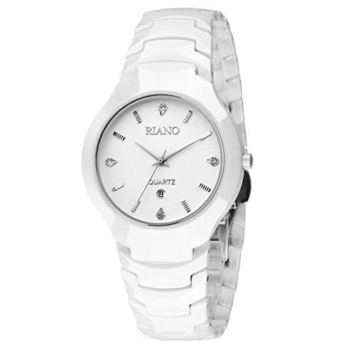 Weiße Keramikuhr/ ultra dünnen Quarz-Uhr/Einfach lässig Paaruhr-A