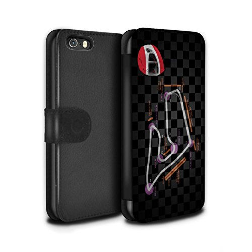 Stuff4 Coque/Etui/Housse Cuir PU Case/Cover pour Apple iPhone SE / Malaisie/KualaLumpur Design / 2014 F1 Piste Collection Autriche/Spielberg