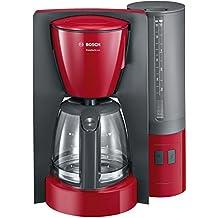 Bosch TKA6A044 Kaffeemaschine ComfortLine, Aromaschutz-Glaskanne, automatisch Endabschaltung wählbar in 20/40/60 minuten, 1200 W, rot / anthrazit