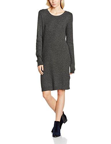 VERO MODA Damen Kleid Vmglory Ninka Ls Dress, Grau (Dark Grey Melange), 42 (Herstellergröße: XL)