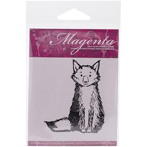 Cling magenta francobolli 3 Fox