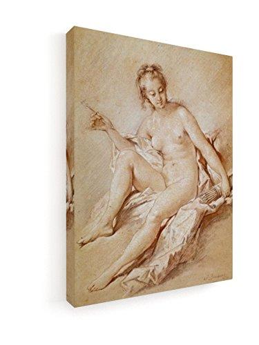 Francois Boucher - Venus mit Köcher und Pfeil - 45x60 cm - Premium Leinwandbild auf Keilrahmen -...