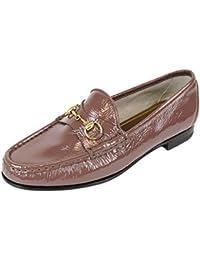 Gucci Bocado de cuero mocasín 338348 de patentes de 1953 (9.5 U.S. / 39,5, malva)