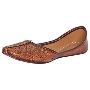 AMPEREUS Women's Leather Juttis