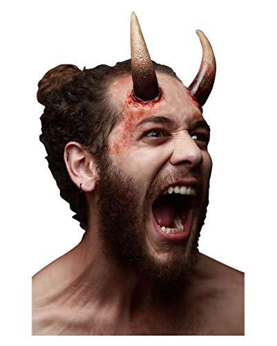 Horror-Shop Große Dark Devil Latexhörner für Fasching & Halloween