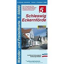 Schleswig - Eckernförde 1 : 50 000: Vom Treenetal bei Tarp bis zum Nord- Ostsee- Kanal, Naturpark Hüttener Berge, Landschaft Schwansen