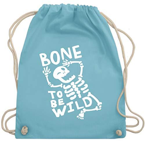 Halloween - Bone to me Wild Halloween Kostüm - Unisize - Hellblau - WM110 - Turnbeutel & Gym Bag