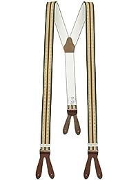 Xeira - bretelles de haute qualité pour Femmes / Hommes à boutonnière - Cuir véritbale - Taille réglable jusqu'à 190cm - Fabriqué en Allemagne (Style 350)