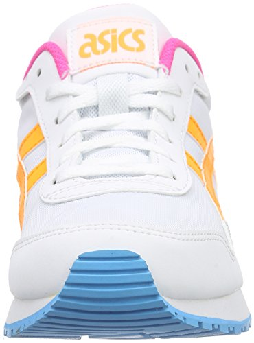 ASICS Curreo - Scarpe da Ginnastica Basse Unisex – Adulto, Bianco (white/light Grey 0113), 44 EU Bianco (white/pop Orange 0130)