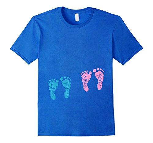 pregnant-fraternal-twins-baby-feet-kicking-belly-t-shirt-herren-grosse-m-konigsblau