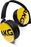 AKG Y 50 On-Ear Kopfhörer Tragbar Faltbar mit Abnehmbarem Audiokabel und Universal Integrierter Lautstärkeregelung/Mikrofon Kompatibel mit Apple iOS und Android Geräten - Gelb