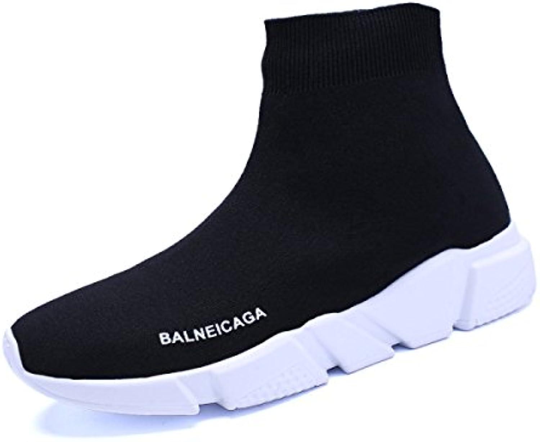 FZHLY Calzado Casual De Primavera Y Otoño Calcetines Negros De Manga De Malla,36