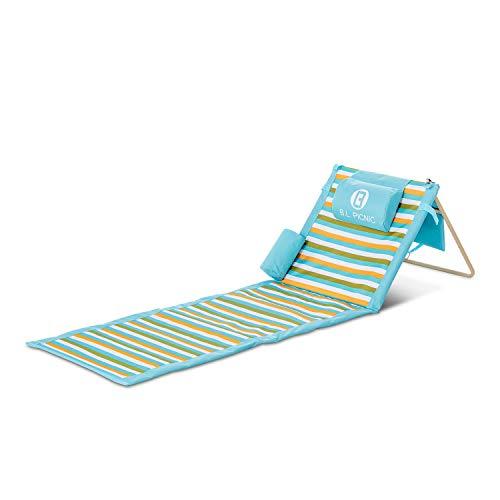 Beach Liege ,tragbar mit Kissen für