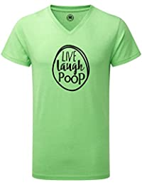 Just Another Tee Live Laugh Poop Statement Men's V Neck Shirt