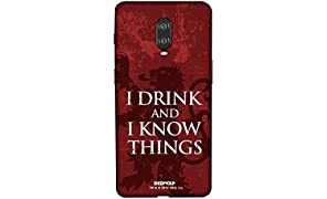 Redwolf Game of Thrones I Drink and I Know Things Mobile Cover Onplus 6T Official Licensed by HBO,USA
