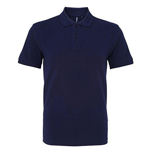 Asquith & Fox Herren Polo-Shirt, Kurzarm Marineblau