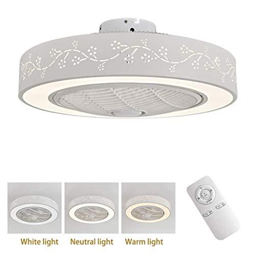 A-Lnice Ventilador LED Luces de Techo, Ventilador Interior Ajustable for Montaje Empotrado,...