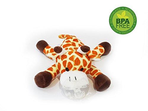 Koochi-Koo Wubbanub einzigartiger Tierschnuller für Babys, ideales Babyparty-Geschenk für Jungen und Mädchen, Schnuller als Giraffe, Affe, Elefant, Kätzchen, Lamm, Hundewelpe und Tiger