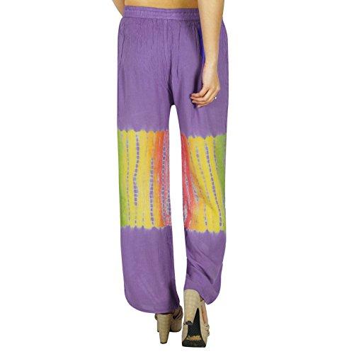 Yoga Harem Aladdin Pantalons Simple Hippie Baggy Harem Femmes Pantalons Pourpre et vert