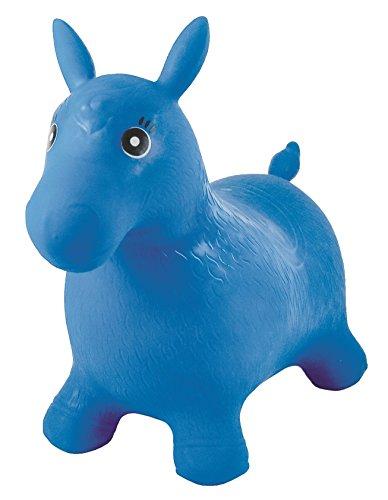 Lexibook - BG050 -Poney Sauteur Gonflable Bleu avec Pompe Manuelle